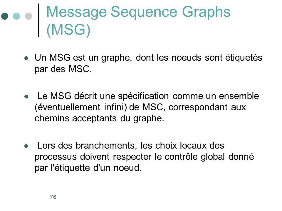Message Sequence Graphs (MSG)