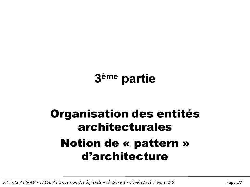 3ème partie Organisation des entités architecturales