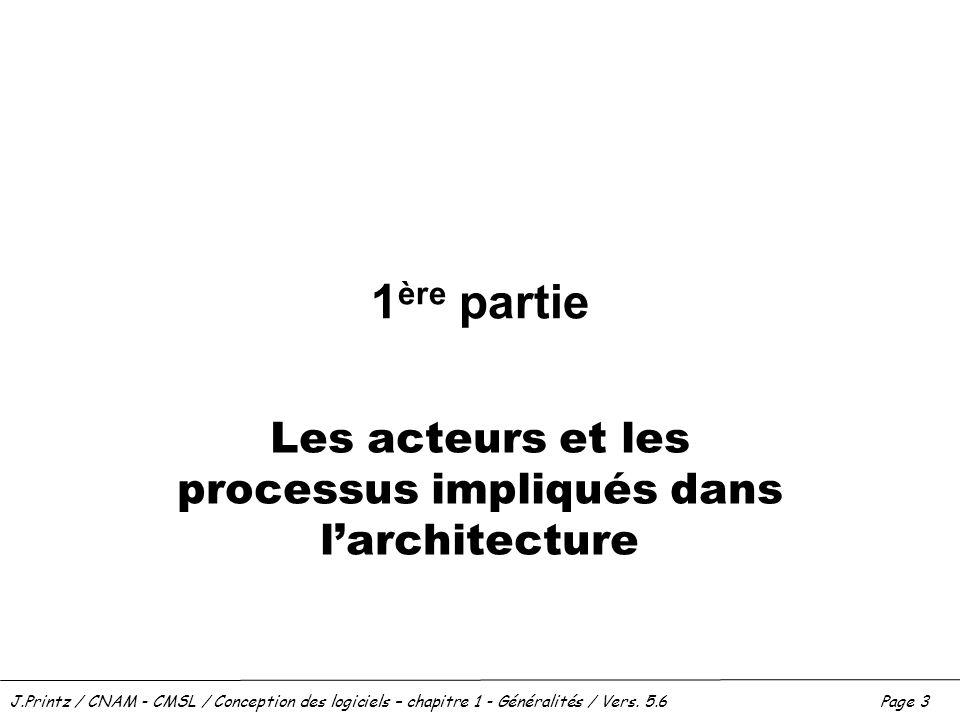 Les acteurs et les processus impliqués dans l'architecture