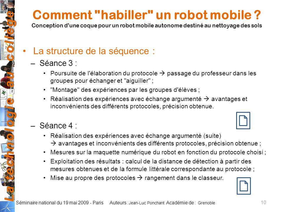 Comment habiller un robot mobile