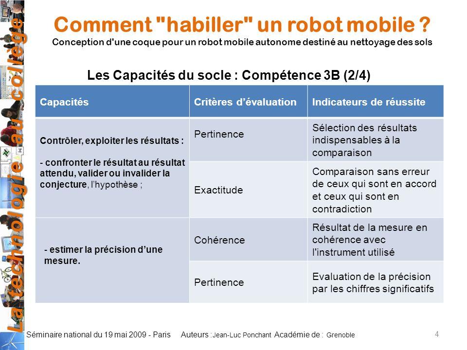 Les Capacités du socle : Compétence 3B (2/4)