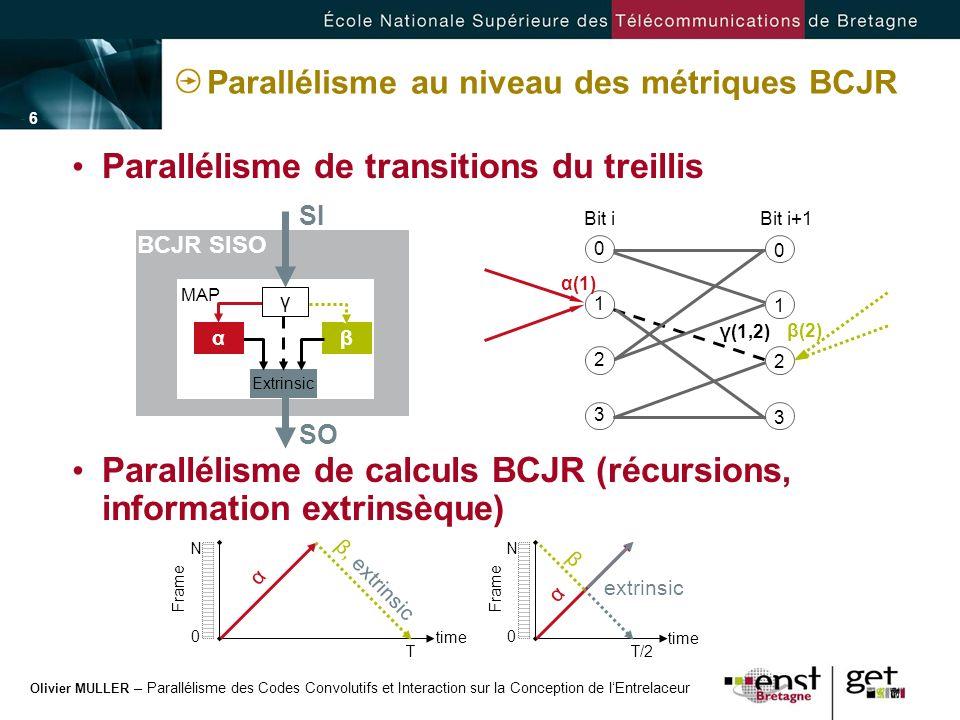 Parallélisme au niveau des métriques BCJR