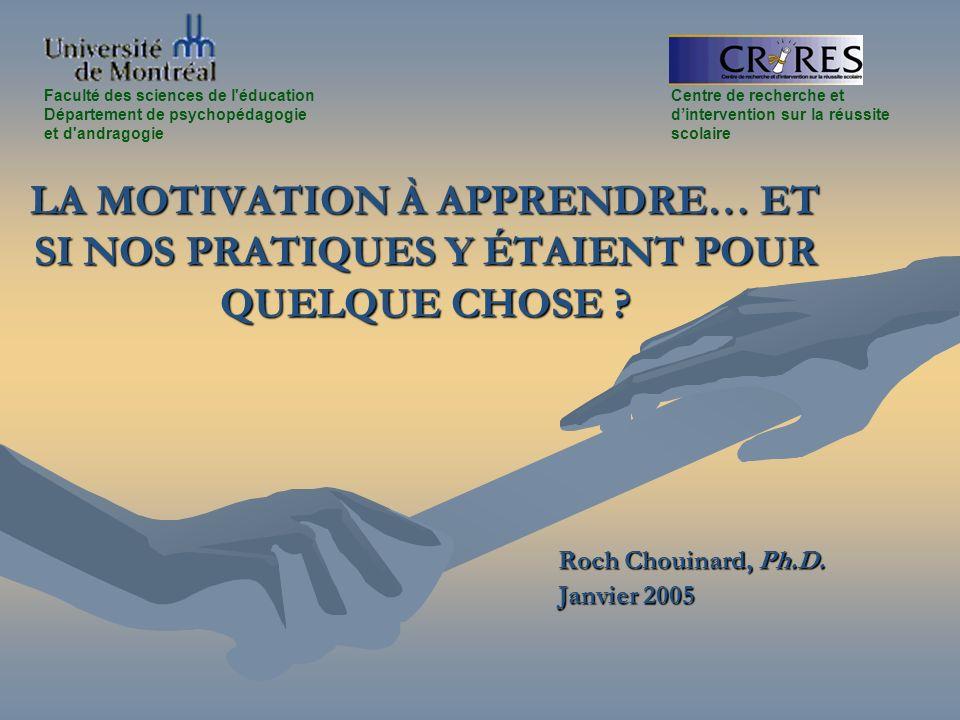 Roch Chouinard, Ph.D. Janvier 2005