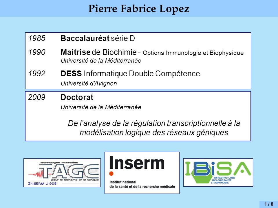 Pierre Fabrice Lopez 1985 Baccalauréat série D