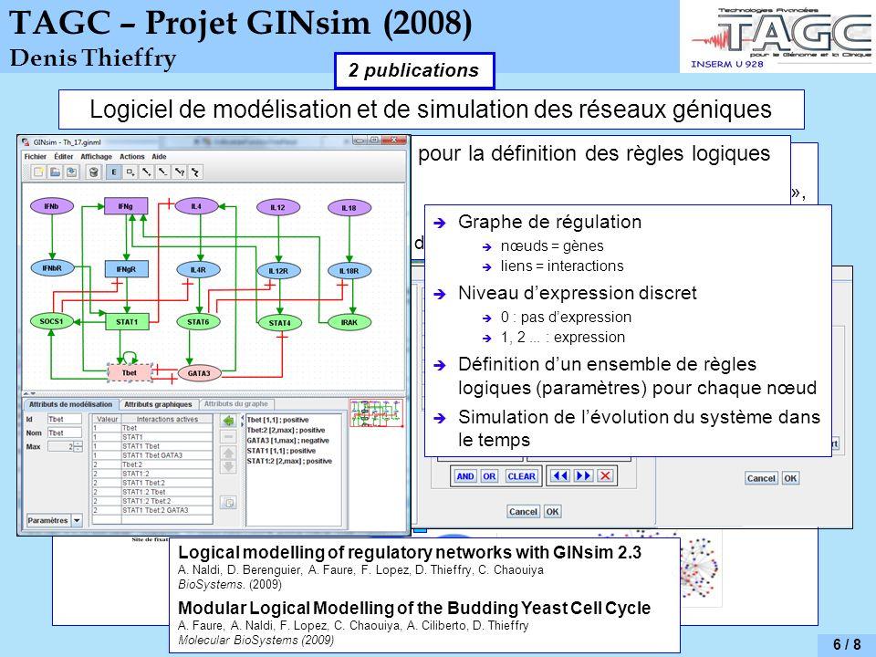 Logiciel de modélisation et de simulation des réseaux géniques