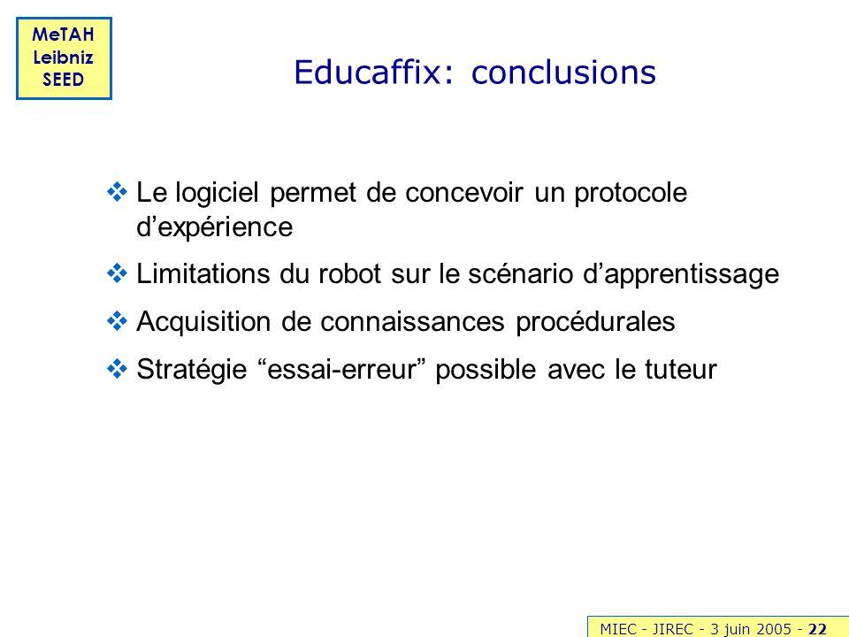 Educaffix: conclusions