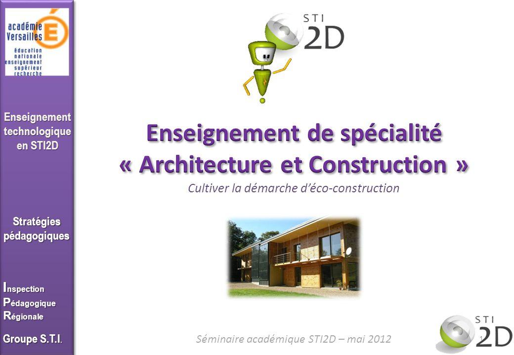 Enseignement de spécialité « Architecture et Construction »