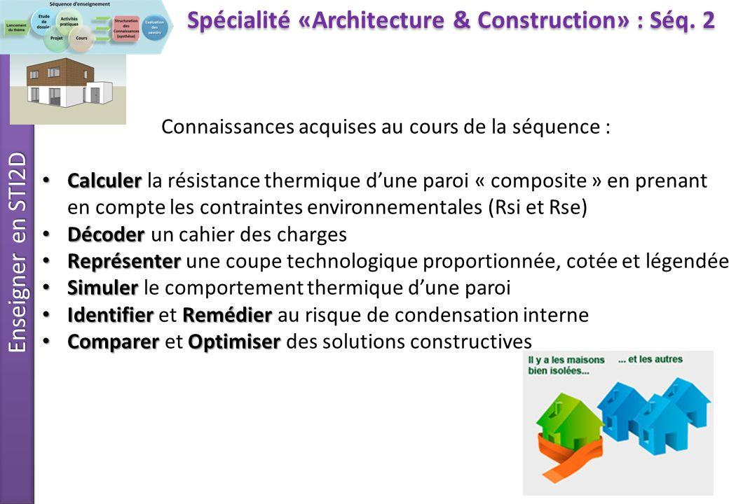 enseignement de sp cialit architecture et construction. Black Bedroom Furniture Sets. Home Design Ideas