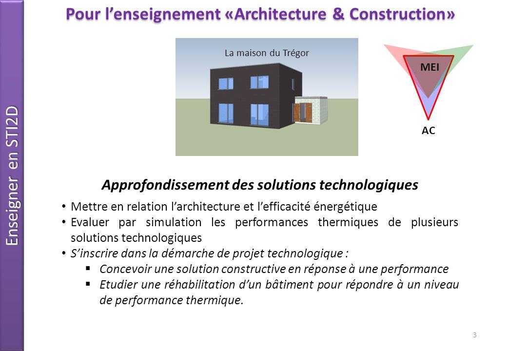 Pour l'enseignement «Architecture & Construction»