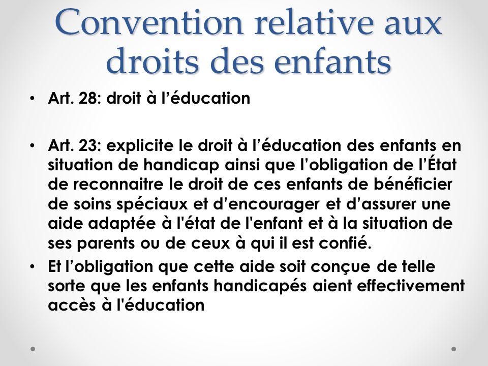 Convention relative aux droits des enfants