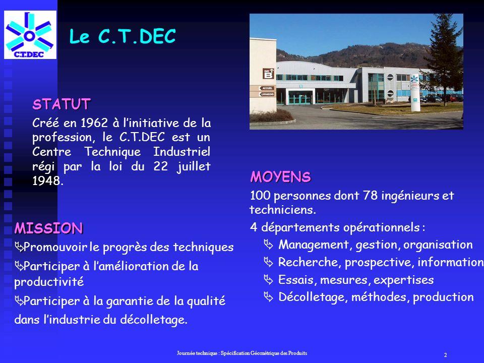 C.TDEC Département Essais Mesures Expertises