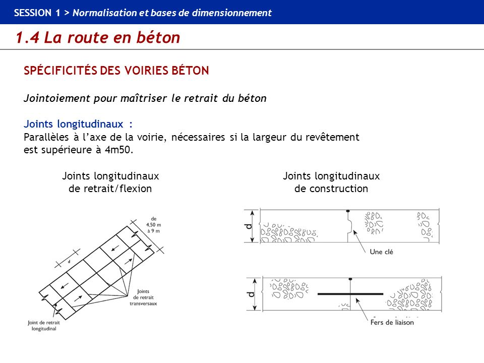 SPÉCIFICITÉS DES VOIRIES BÉTON