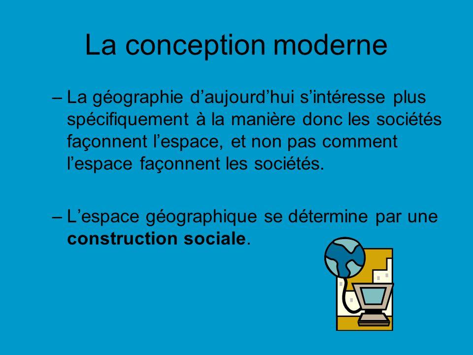 La conception moderne