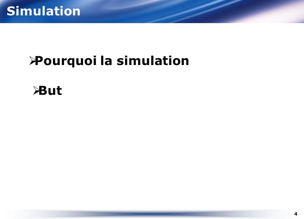 Pourquoi la simulation