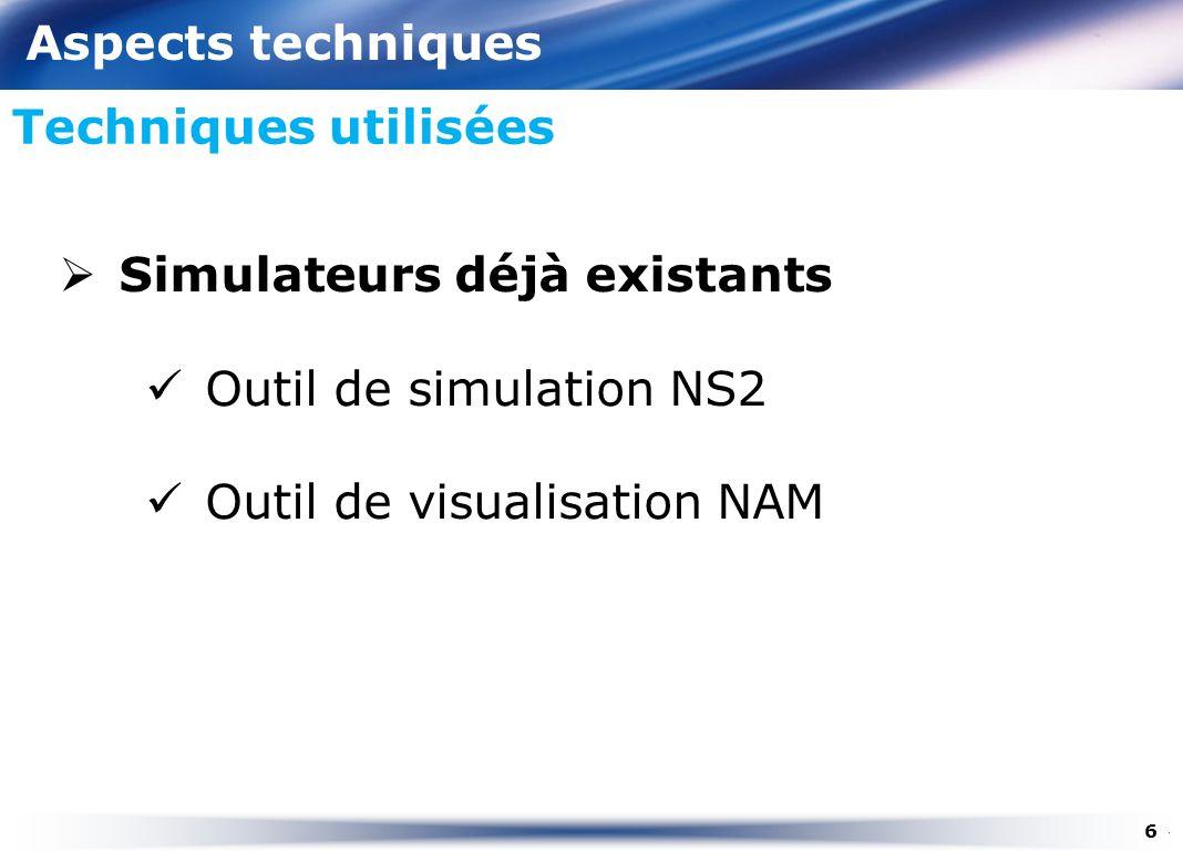 Simulateurs déjà existants Outil de simulation NS2