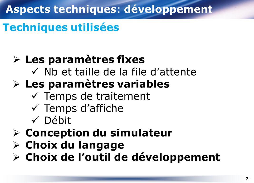 Aspects techniques: développement