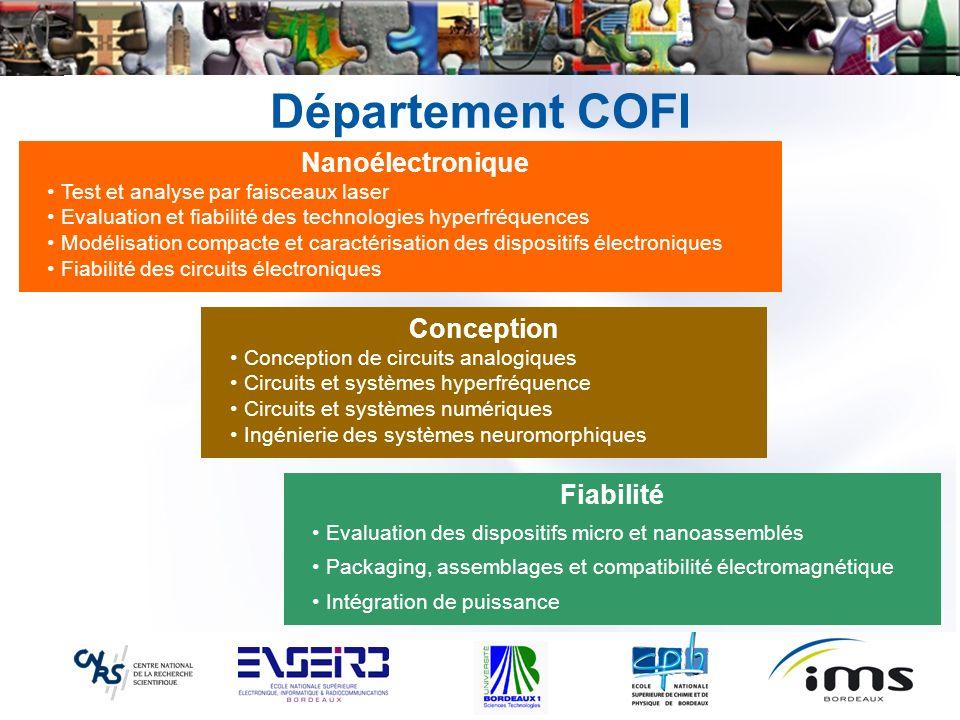 Département COFI Nanoélectronique Conception Fiabilité