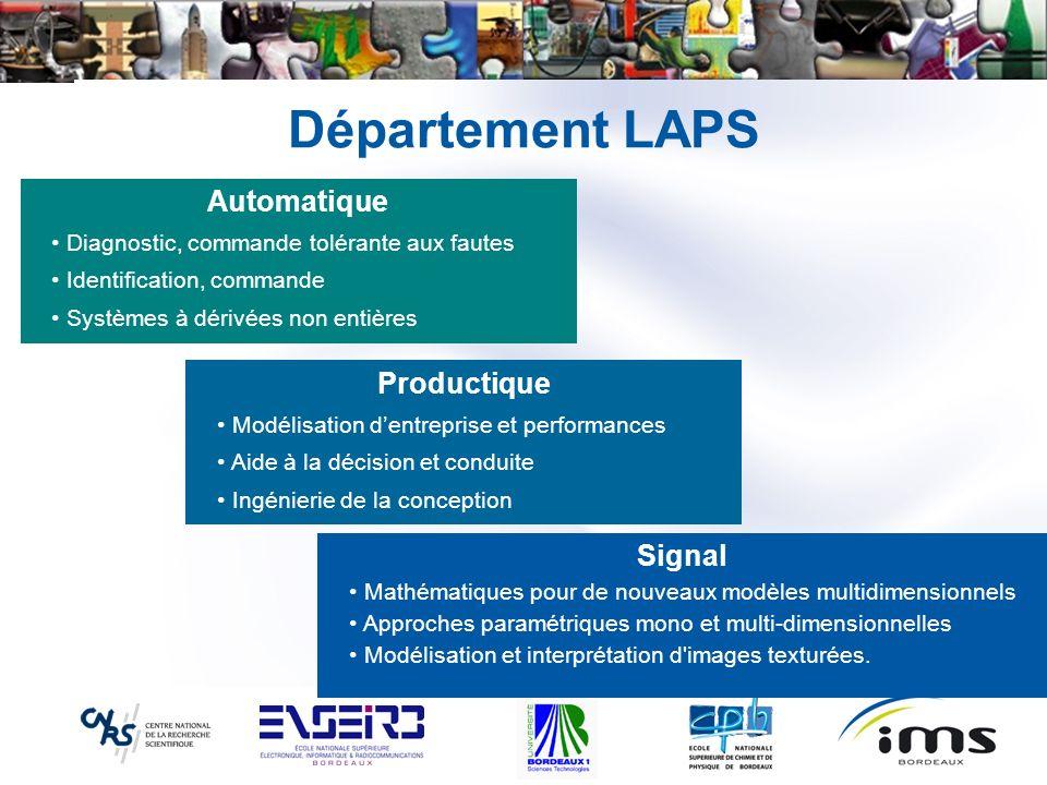 Département LAPS Automatique Productique Signal
