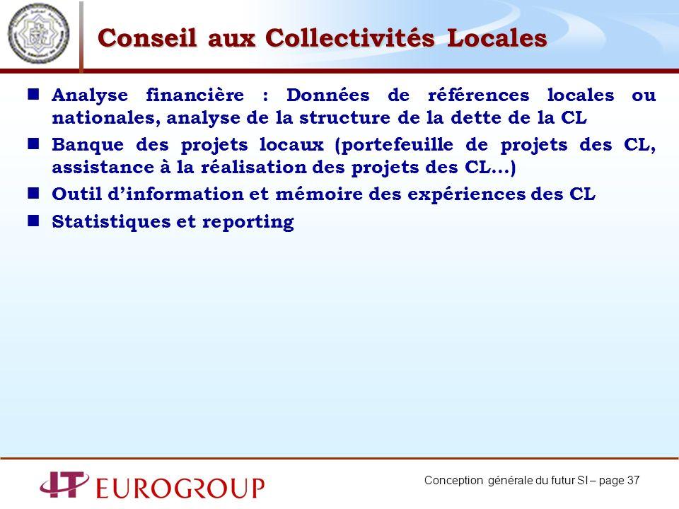 Conseil aux Collectivités Locales