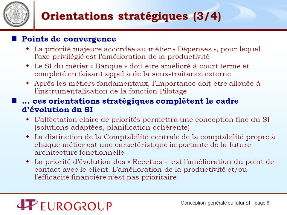 Orientations stratégiques (3/4)