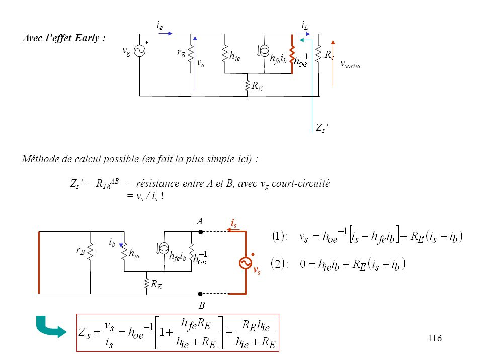Méthode de calcul possible (en fait la plus simple ici) :