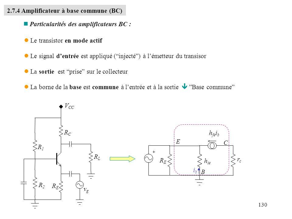2.7.4 Amplificateur à base commune (BC)