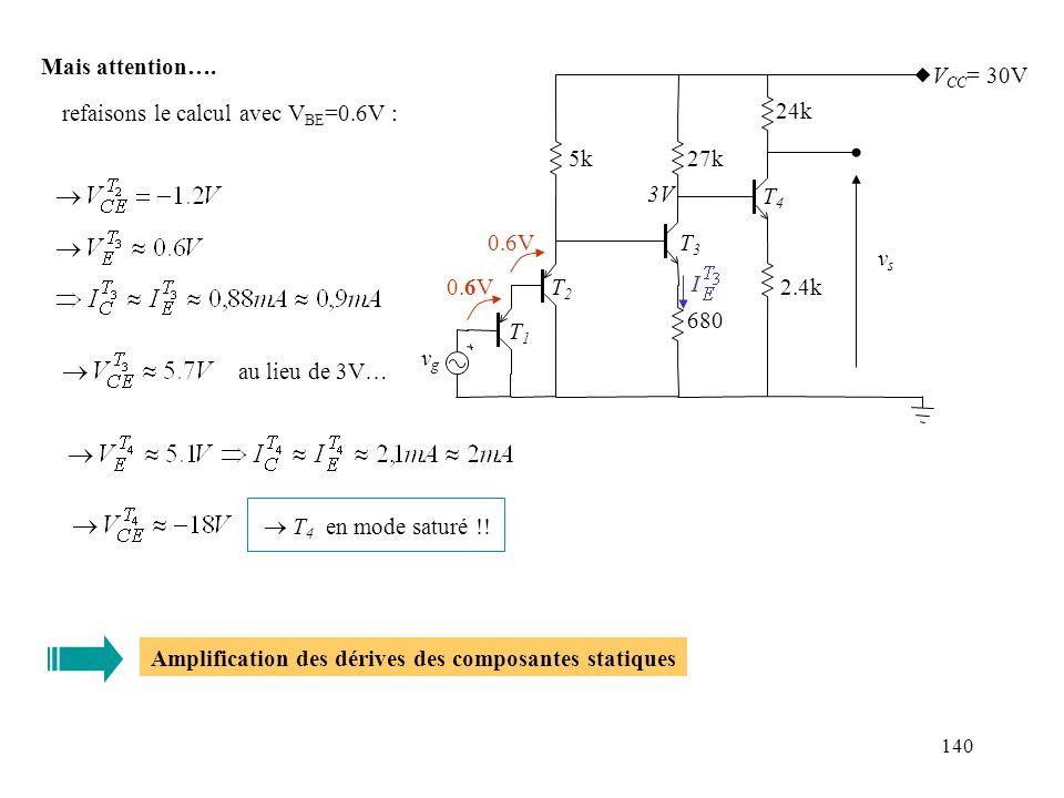 refaisons le calcul avec VBE=0.6V :