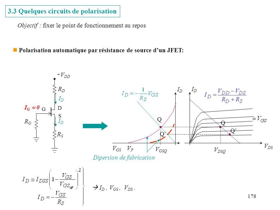 3.3 Quelques circuits de polarisation