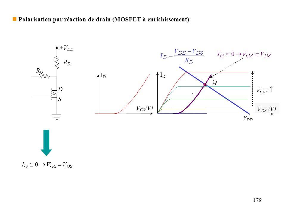 Polarisation par réaction de drain (MOSFET à enrichissement)