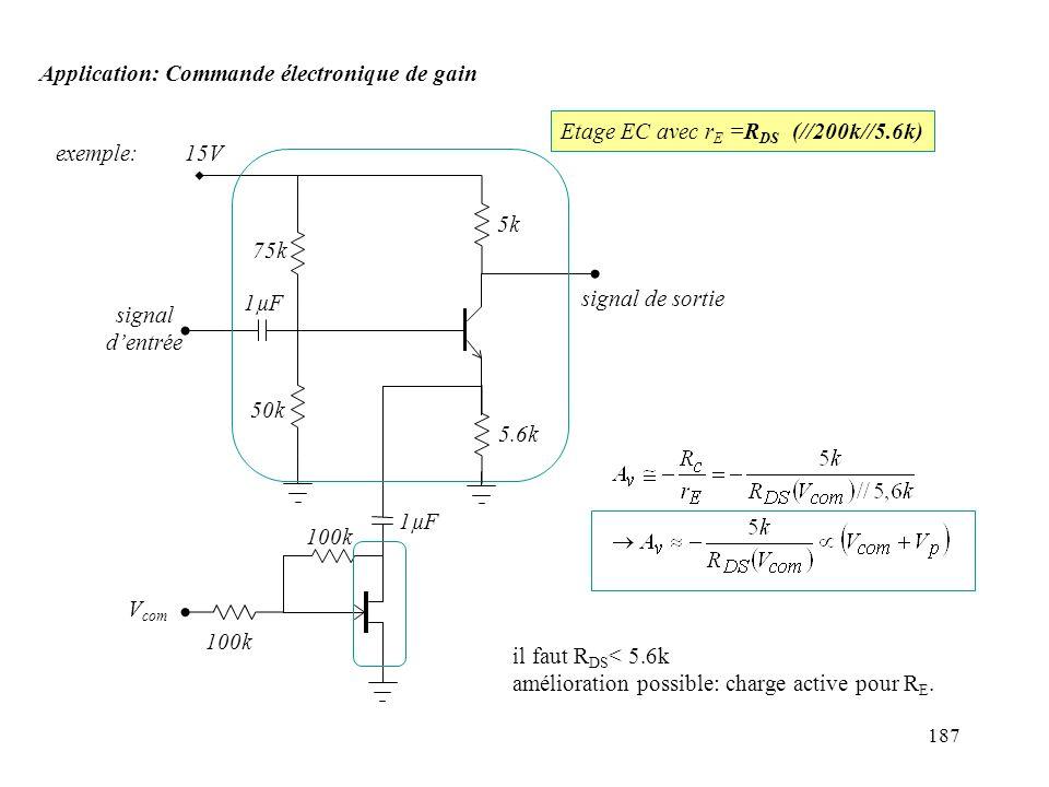 Application: Commande électronique de gain