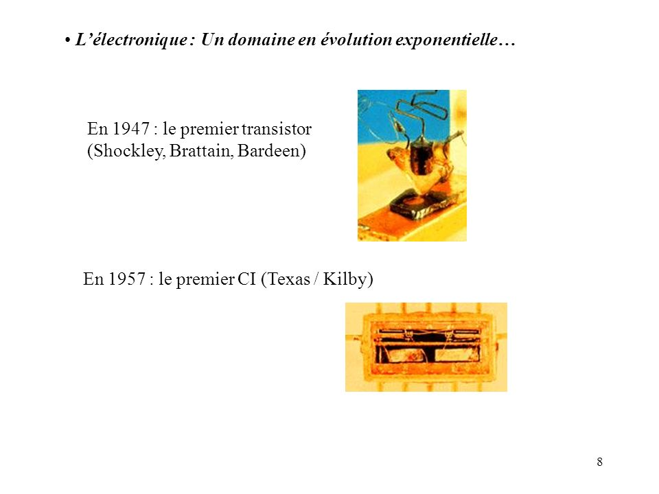 L'électronique : Un domaine en évolution exponentielle…