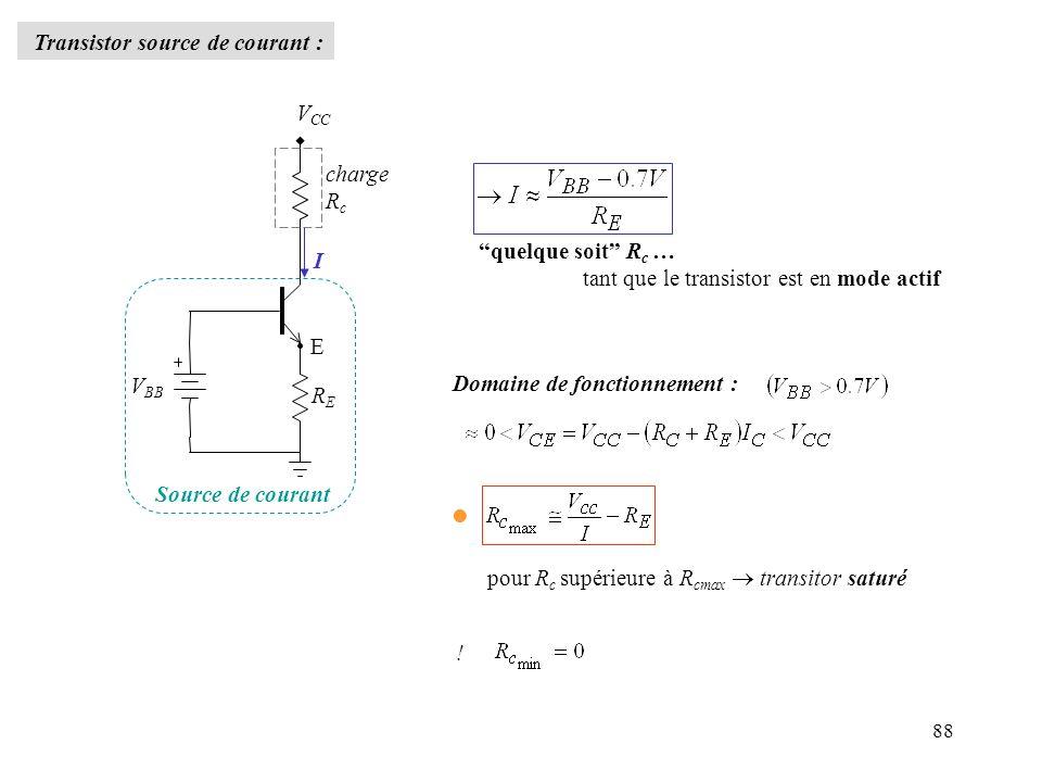 Transistor source de courant :