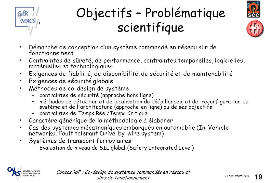 Objectifs – Problématique scientifique