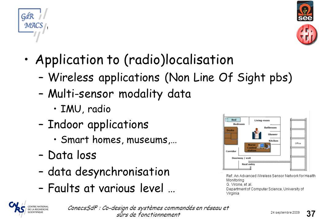Application to (radio)localisation