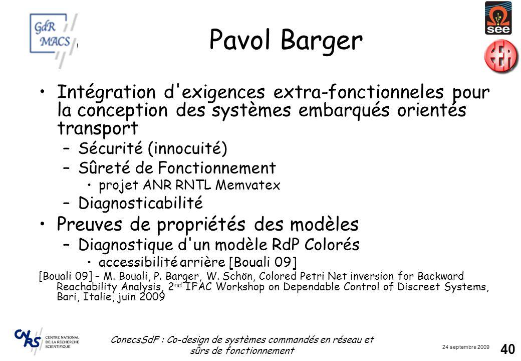 Pavol Barger Intégration d exigences extra-fonctionneles pour la conception des systèmes embarqués orientés transport.