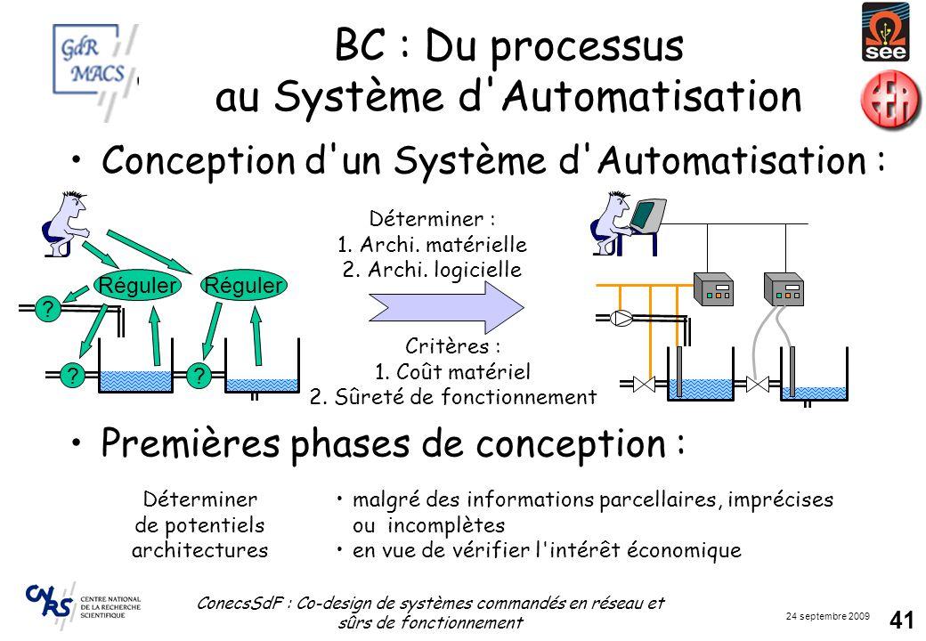 BC : Du processus au Système d Automatisation