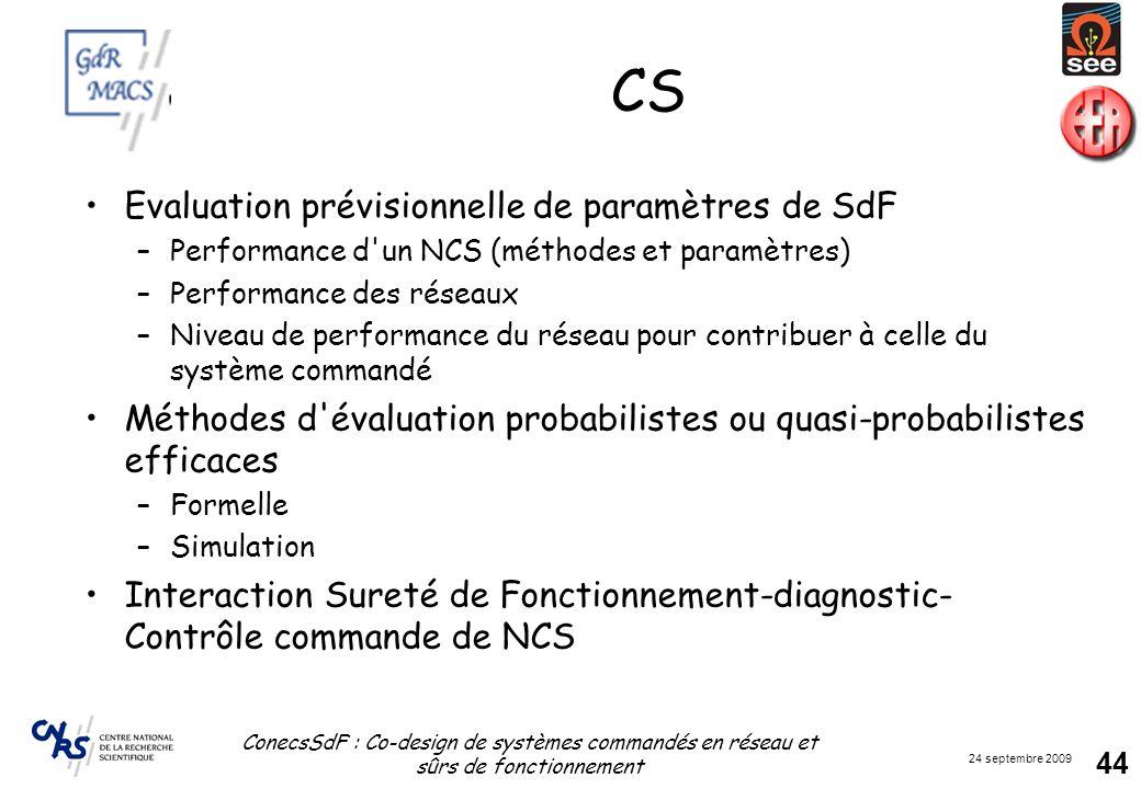 CS Evaluation prévisionnelle de paramètres de SdF