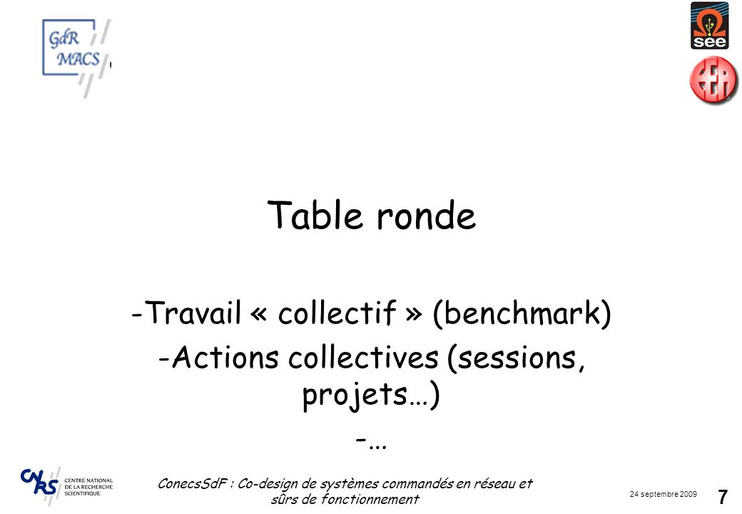 Table ronde Travail « collectif » (benchmark)