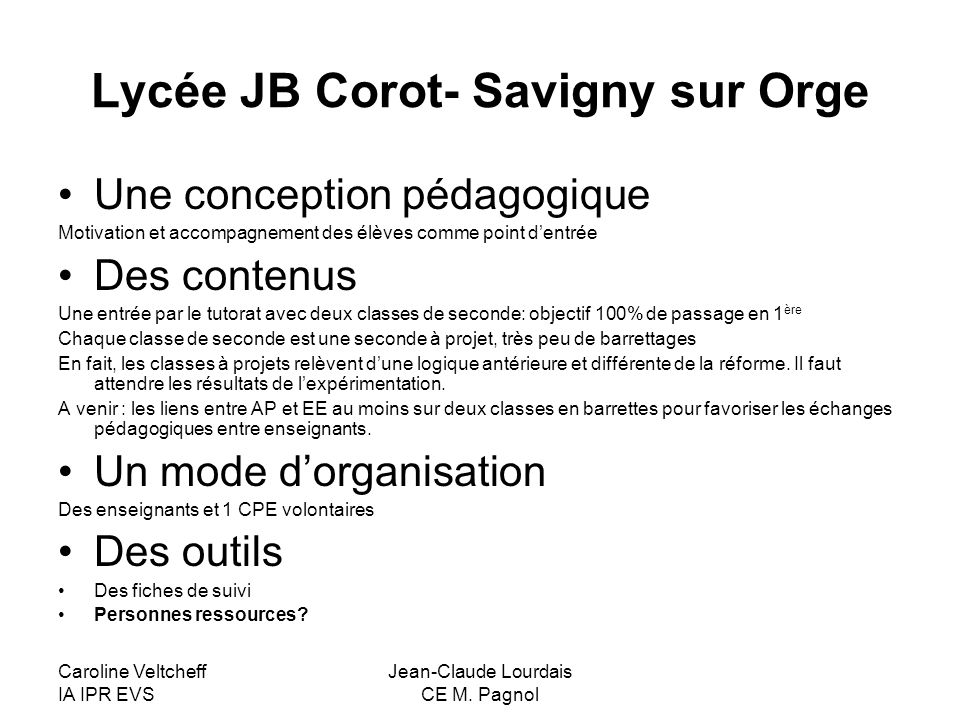 Lycée JB Corot- Savigny sur Orge