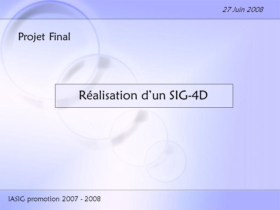 Réalisation d'un SIG-4D
