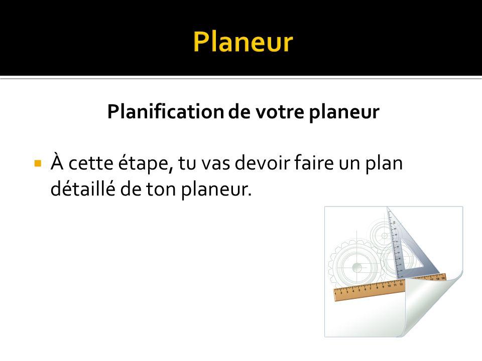 Planification de votre planeur