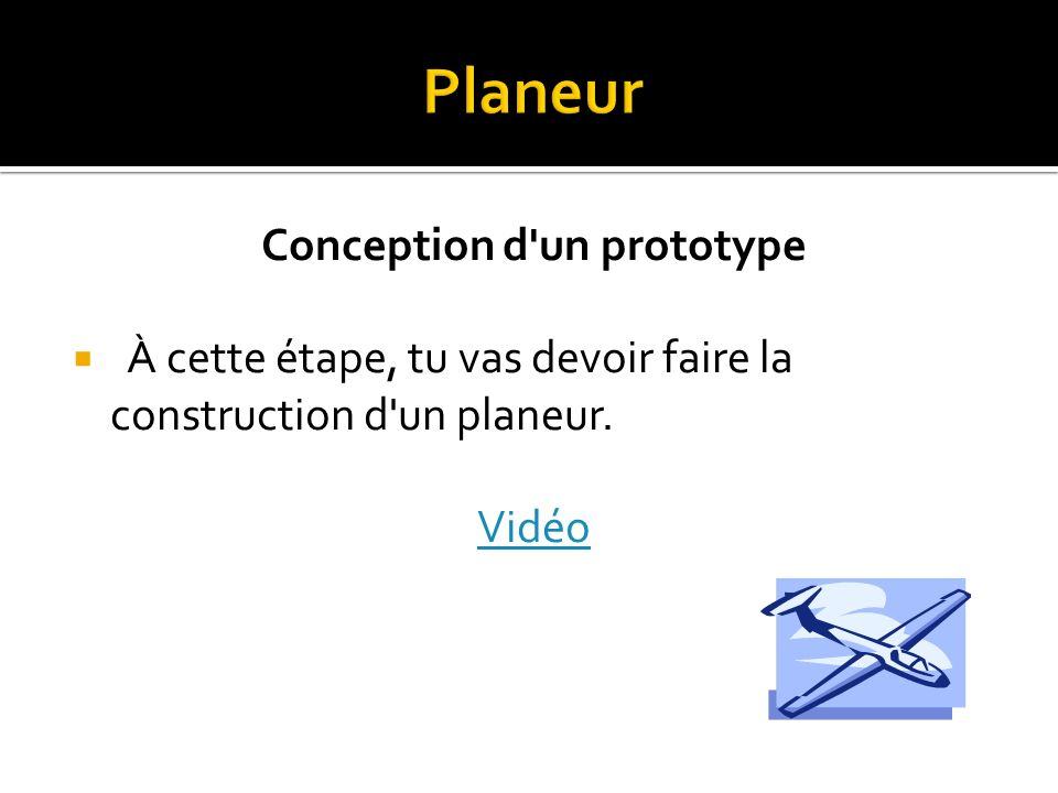 Conception d un prototype