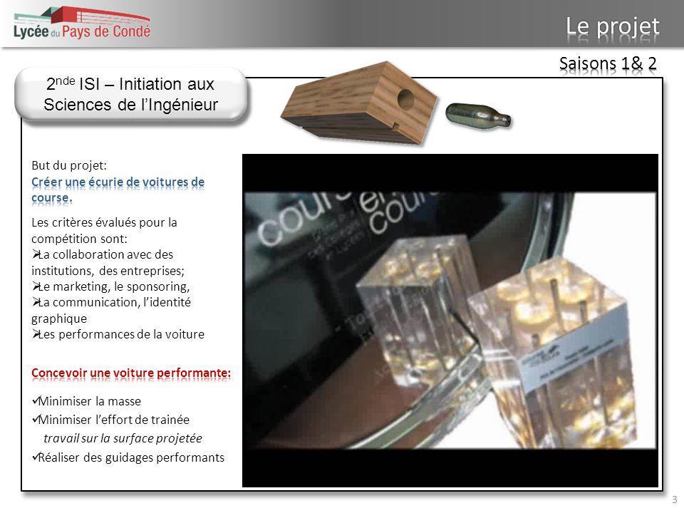 2nde ISI – Initiation aux Sciences de l'Ingénieur