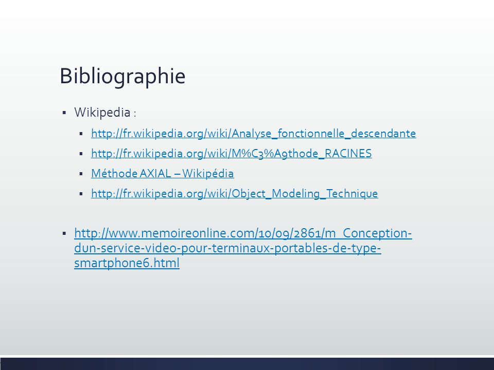 Bibliographie Wikipedia :
