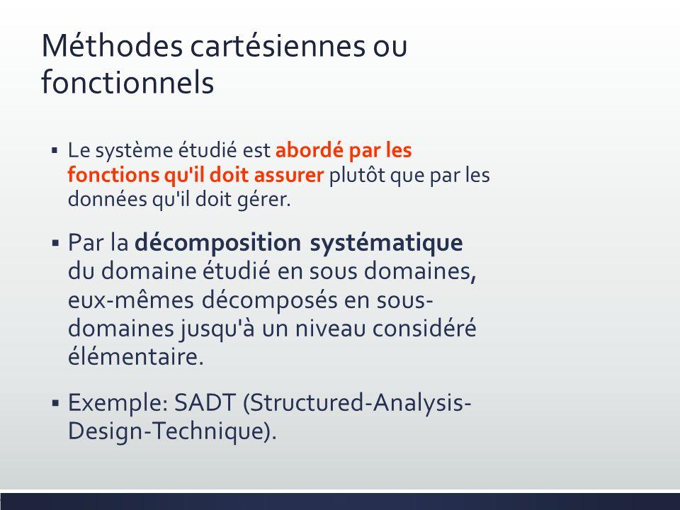 Méthodes cartésiennes ou fonctionnels
