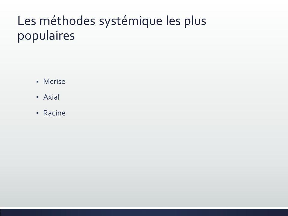 Les méthodes systémique les plus populaires