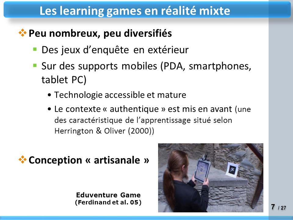 Les learning games en réalité mixte