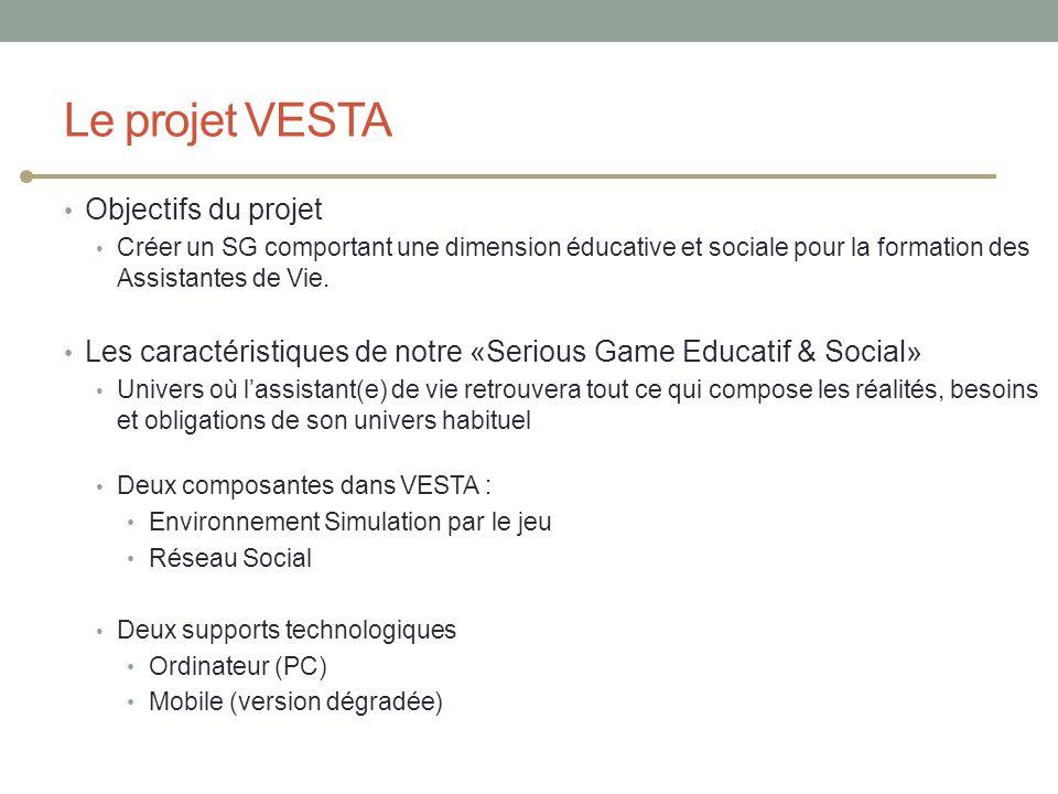 Le projet VESTA Objectifs du projet