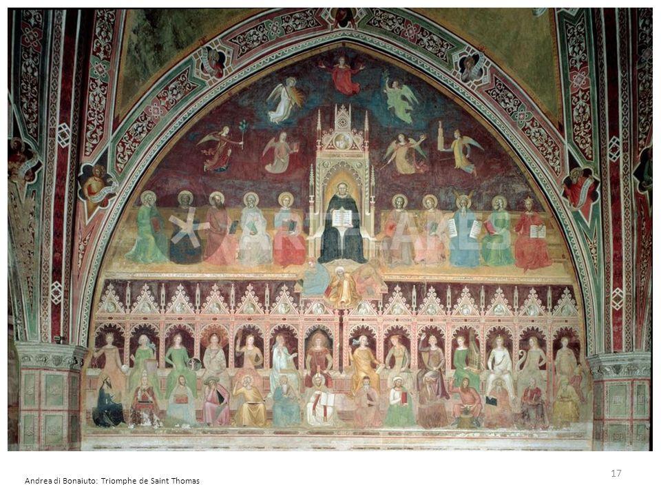 Andrea di Bonaiuto: Triomphe de Saint Thomas