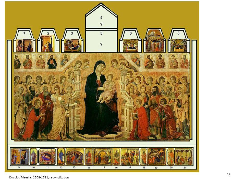 Duccio : Maesta, 1308-1311, reconstitution